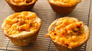 Chili and Cheese Mini Pasta Pies