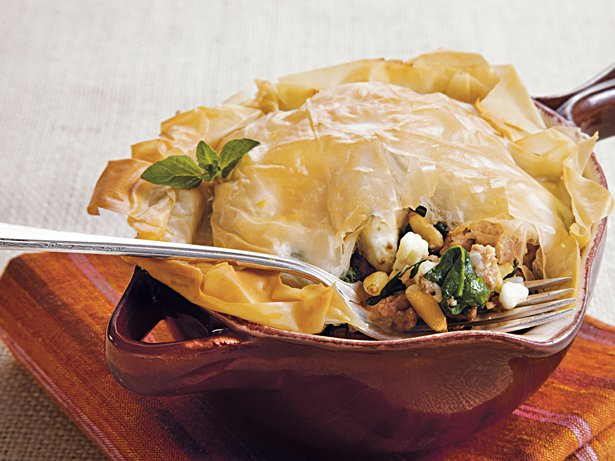 Turkey-Feta Phyllo Bake