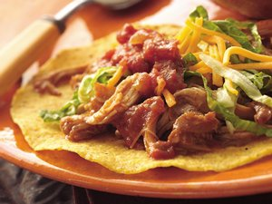 Slow Cooker Mexican Chicken Tostadas