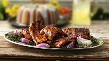 ... white barbecue sauce grilled ribs with cherry cola barbecue sauce