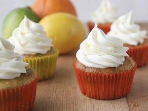 Citrus Poke Cupcakes