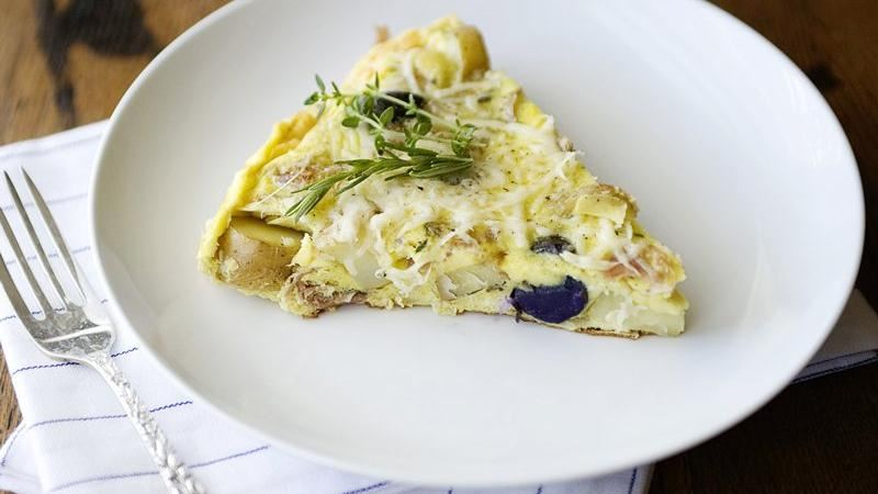 Potato and Prosciutto Frittata