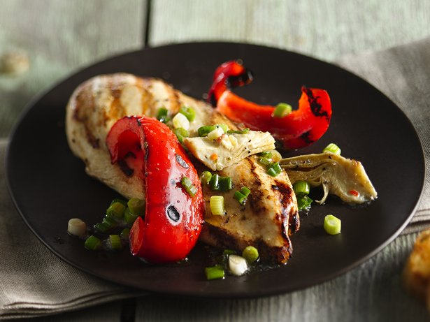 Chicken with Peppers and Artichokes
