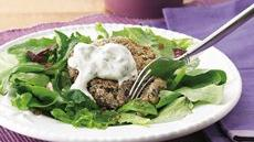 Black Bean Cake Salad with Cilantro-Lime  Cream Recipe