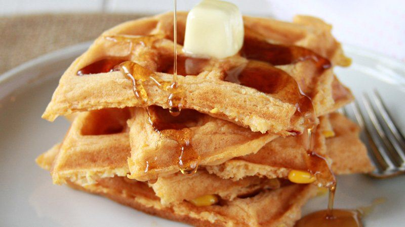 Spicy Sweet Corn Waffles