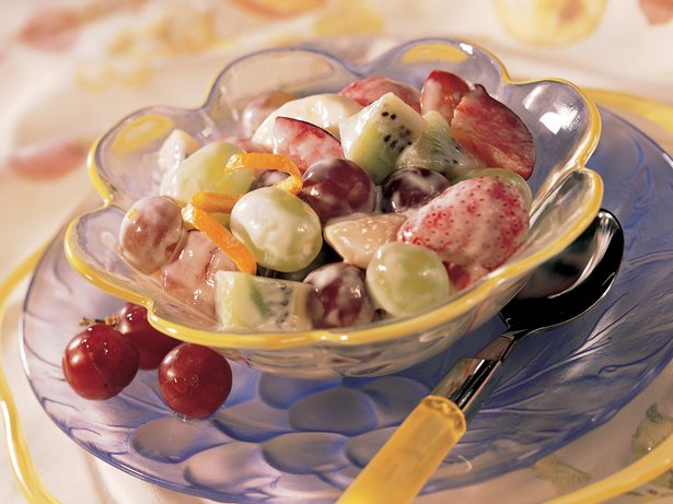 Sour Cream-Honey Fruit Salad