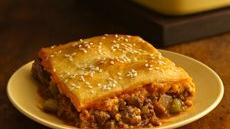 Crescent-Topped Cheeseburger Casserole Recipe