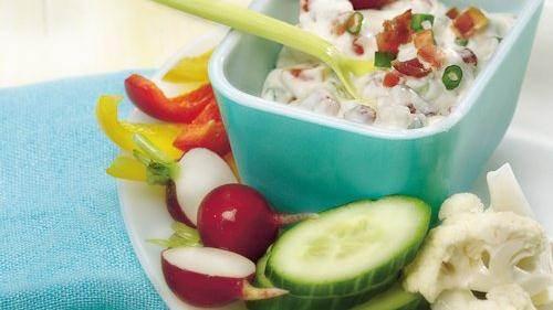 Bean and Bacon Fiesta Dip recipe from Betty Crocker
