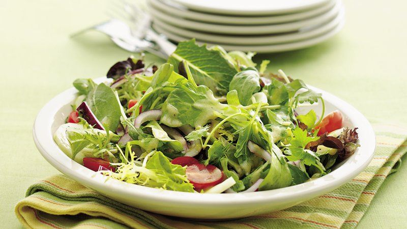 Mixed Green Salad with Dijon Vinaigrette recipe from Betty Crocker