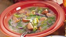 Cabbage, Potato and Sausage Soup Recipe