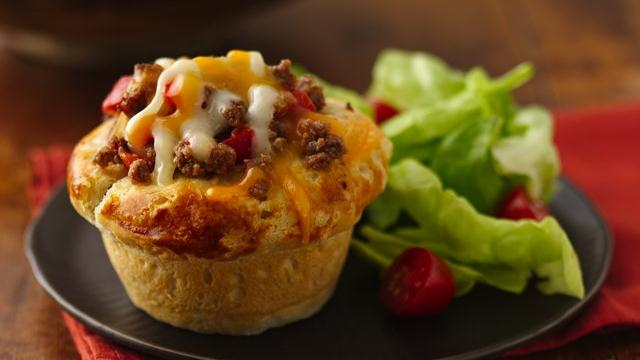 Sloppy Joe Cups | muffintinmommy