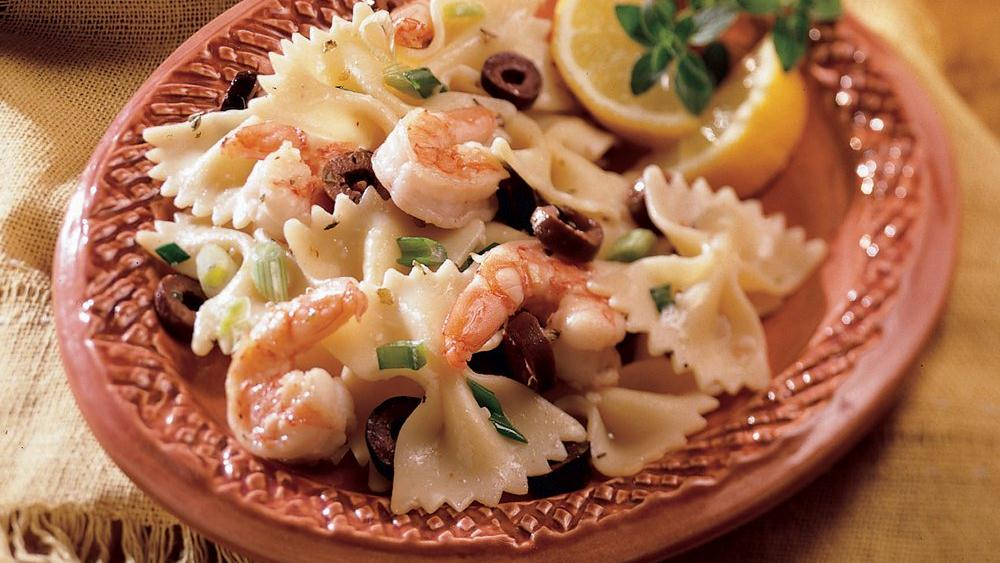 Mediterranean Shrimp and Bow Ties