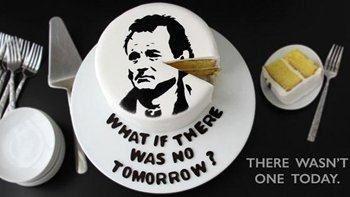 Bill Murray Groundhog Day Cake