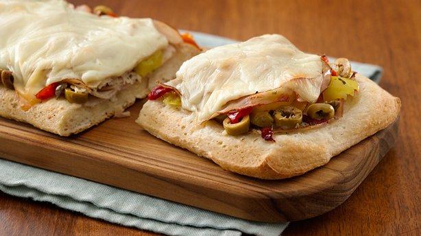 Open-Face Italian Turkey Sandwiches