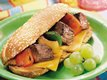 Grilled Philly Cheese Steak Kabob Sandwiches
