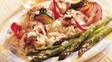 Mediterranean Chicken-Vegetable Kabobs Recipe