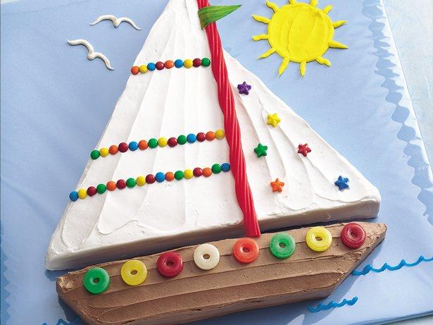 Boat Birthday Cake Images : Sailboat Cake recipe from Betty Crocker