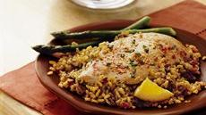 Chicken with Orange-Pecan Rice Recipe