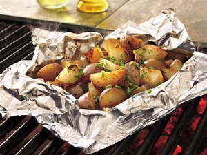 Grilled Sage-Potato Foil Pack