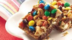 Double-Chocolate Candy Cashew Bars Recipe