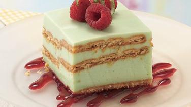 Key Lime Dessert with Raspberry Sauce