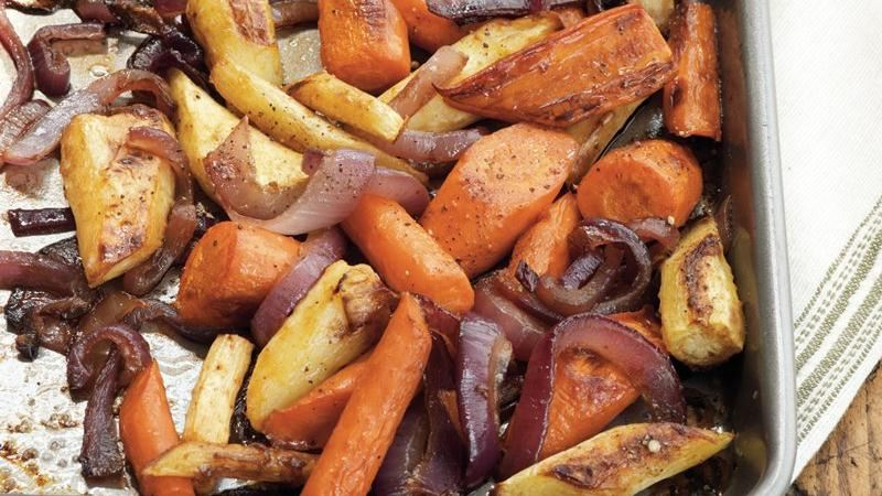 Balsamic-Glazed Root Vegetables