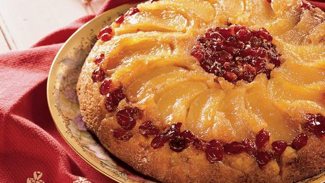 Image of Apple Cranberry Upside-down Cake, Pillsbury