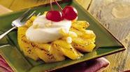 Grilled Pineapple Slices with Ginger Cream