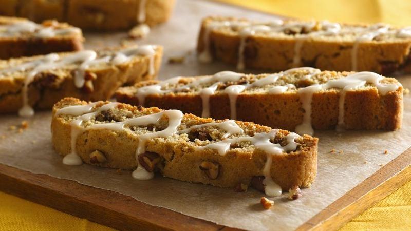 Iced Cinnamon-Pecan Biscotti