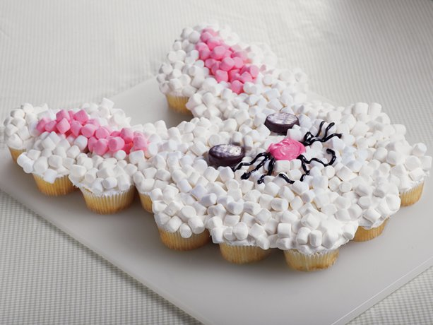 ... the sweetest and easiest bunny cake. It's as easy as making cupcakes