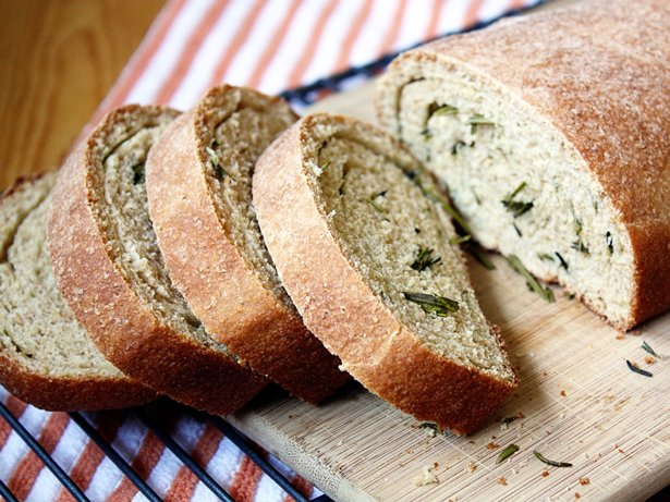 Rosemary-Browned Butter Swirl Bread