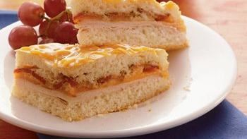 Baked Turkey, Cheddar and Bacon Sandwich