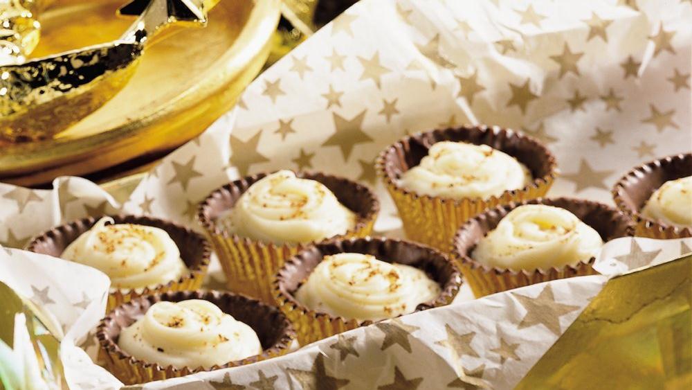 Eggnog Truffle Cups recipe from Pillsbury.com