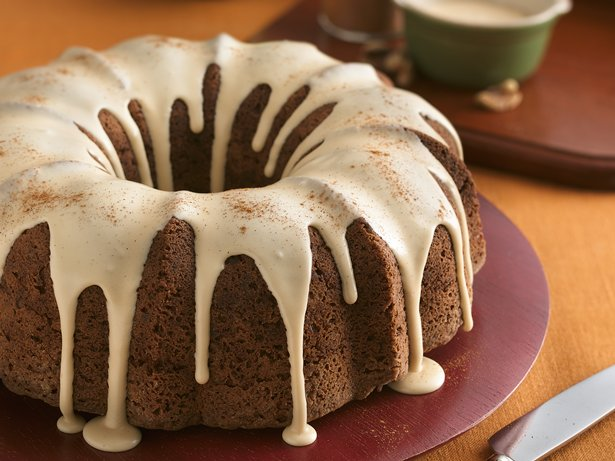 Apple-Walnut Cake with Caramel Glaze