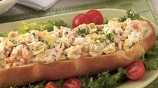 Bread Boat with Crab Spread Recipe