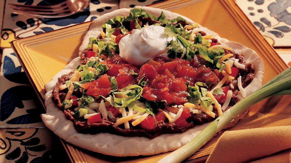 Mexican Pita Tostadas recipe from Pillsbury.com