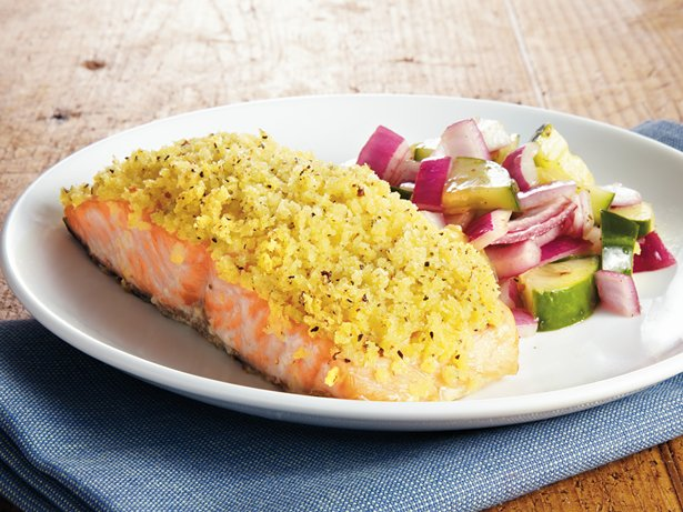 Crispy-Coated Lemon-Pepper Salmon
