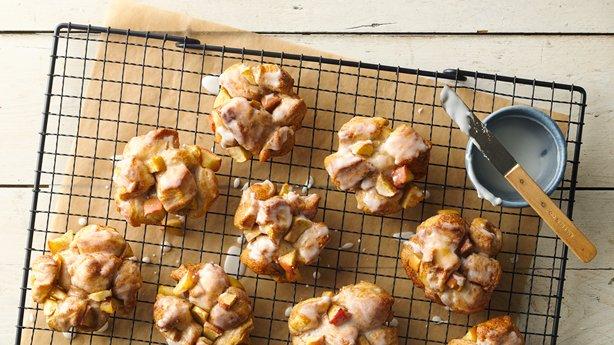 Baked Glazed Apple Fritters