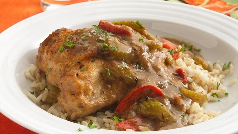Smothered Chicken and Gravy (Makeover) recipe from Betty Crocker
