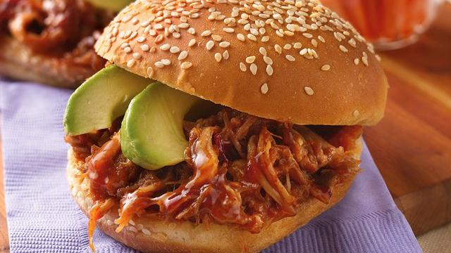 Slow Cooker Chipotle Pulled-Pork Sandwiches