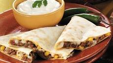Spicy Beef Quesadillas Recipe