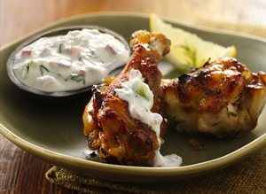 Greek&#32;Chicken&#32;Wings&#32;with&#32;Tzatziki&#32;Sauce