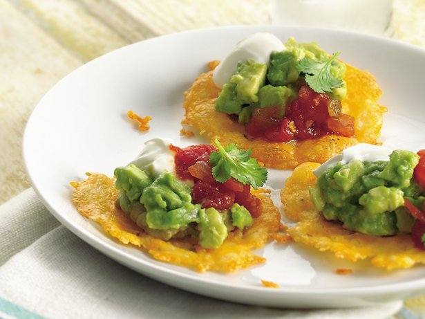 Guacamole-Cheese Crisps