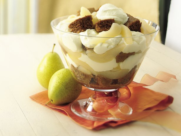 Lemon-Pear Gingerbread Trifle
