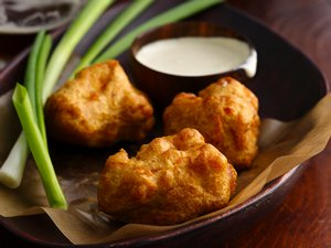 Beer-Battered Chicken with Amber Aioli