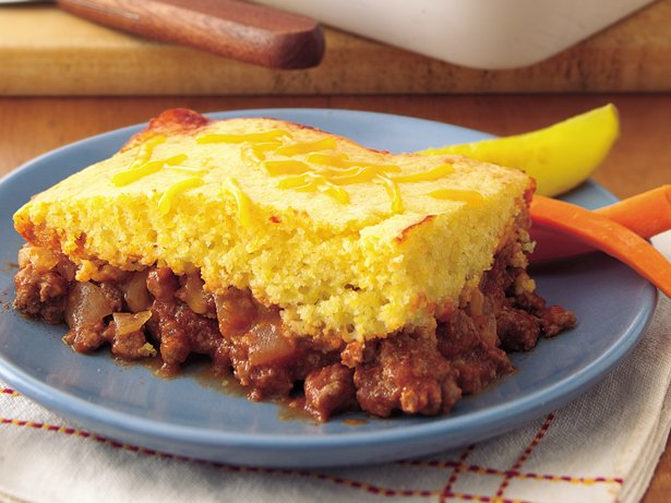 Cornbread Topped Sloppy Joe Casserole
