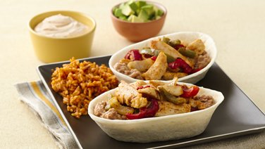 Stand 'N Stuff™ Chicken Fajita Boats