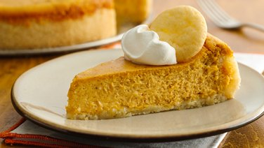 Pumpkin Cheesecake with Sugar Cookie Crust