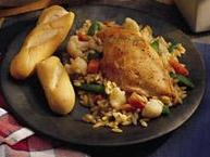 Caesar Chicken with Orzo
