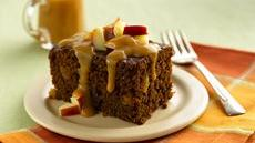 Ginger Cake with Caramel-Apple Topping Recipe